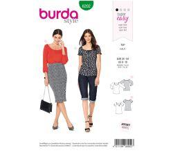 Střih Burda 6202 - Jednoduché tričko