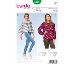 Střih Burda 6477 - Volná halenka