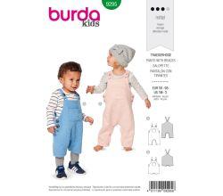 Strih Burda 9295 - Detské laclové nohavice