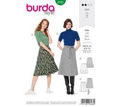 Střih Burda 6183 - Áčková sukně, godetová sukně
