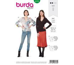 Střih Burda 6170 - Zavinovací tričko