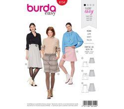 Strih Burda 6154 - áčkový sukňa, mini sukne