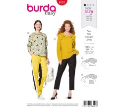 Střih Burda 6151 - Svetr, mikina