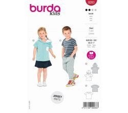 Strih Burda 9283 - Detské tričko, tričko s kapucňou