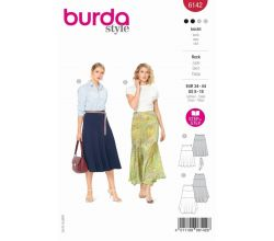 Strih Burda 6142 - Dlhá letná sukňa, midi sukňa