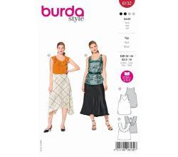 Střih Burda 6132 - Tílko, top bez rukávů