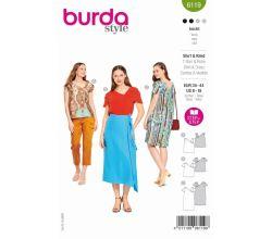 Střih Burda 6119 - Asymetrické tričko, balonové šaty