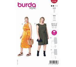 Střih Burda 6106 - Šaty bez rukávů pro plnoštíhlé