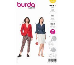 Střih Burda 6100 - Sako bez límce, blejzr, zavinovací sako s páskem