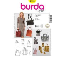 Střih Burda 7158 - Kabelka, taška, shopper