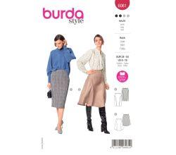 Strih Burda 6061 - Sukne, rozšírená sukne