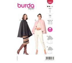 Strih Burda 6063 - Plášť