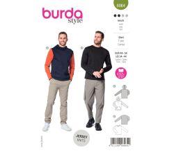Strih Burda 6064 - Pánske tričko s dlhým rukávom, mikina s kapucňou