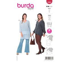 Strih Burda 6066 - Tunika pre plnoštíhle