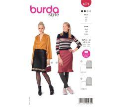 Strih Burda 6071 - Rovná sukňa