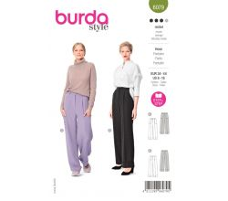 Strih Burda 6079 - Široké nohavice s pukmi