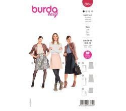 Strih Burda 6084 - Zavinovacie sukne