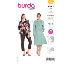 Strih Burda 6092 - Áčkový kabát, krátky kabát