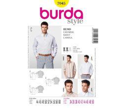 Strih Burda 7045 - Pánska košeľa