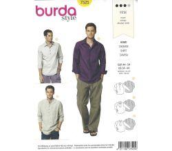 Strih Burda 7525 - Pánska košeľa