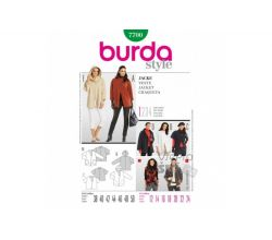 Strih Burda 7700 - Dámsky kabát
