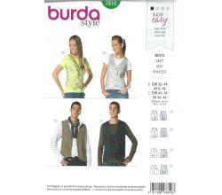 Strih Burda 7810 - Dámska a pánska vesta