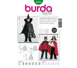 Střih Burda 2494 - Kouzelník, Lucifer, pirát