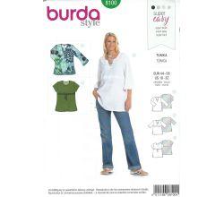 Střih Burda 8100 - Dámský top