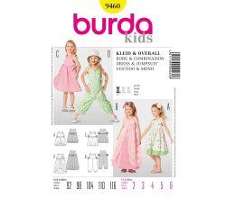 Střih Burda 9460 - Dětské šaty, overal