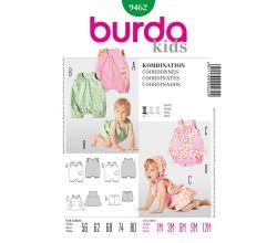Střih Burda 9462 - Dětský overal, tílko, kalhotky