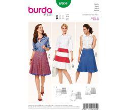 Střih Burda 6904 - Áčková sukně, letní sukně