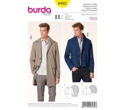 Strih Burda 6932 - Pánsky kabát