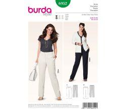 Střih Burda 6952 - Rovné kalhoty pro plnoštíhlé