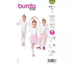 Strih Burda 9266 - Detský dres na balet, bolerko