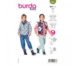 Strih Burda 9267 - Detský strih vesty a bundy
