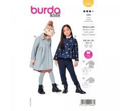 Strih Burda 9268 - Dievčenské kabátik v dvojakom prevedení