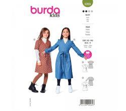 Strih Burda 9269 - Dievčenské zavinovacie šatôčky v dvojakom prevedení
