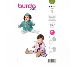 Strih Burda 9270 - Kabátik s kapucňou a župánik pre bábätko dvojakom prevedení
