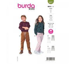 Strih Burda 9271 - Dievčenské a chlapčenské nohavice v dvojakom prevedení
