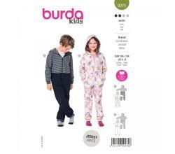 Strih Burda 9275 - Detský overal v dvojitom prevedení