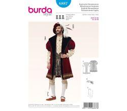 Strih Burda 6887 - Pánsky kostým z obdobia anglickej renesancie