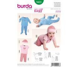 Střih Burda 9423 - Dětské tričko, legíny, polodupačky, čepice
