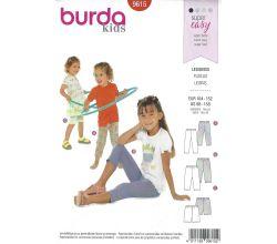 Strih Burda 9615 - Detské legíny