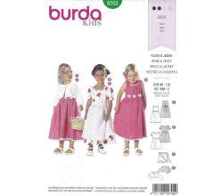 Střih Burda 9702 - Dívčí šatičky a bolerko