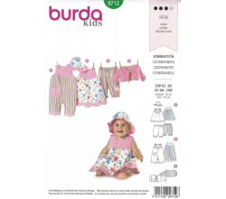 Střih Burda 9712 - Overal, top, kalhoty, bolerko a klobouček