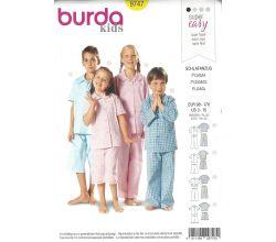 Strih Burda 9747 - Detské pyžamko