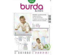 Střih Burda 9782 - Bodýčko a spací pytel