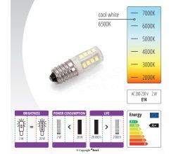 Žiarovka LED 230V, 2W pre šijacie stroje so závitom