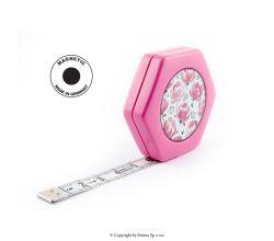 Krajčírsky meter HEXAGON MAGNETIC PINK