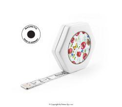 Krajčírsky meter HEXAGON MAGNETIC WHITE